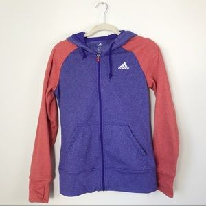 Adidas | Canada Purple & Red Zip up Hoodie | S